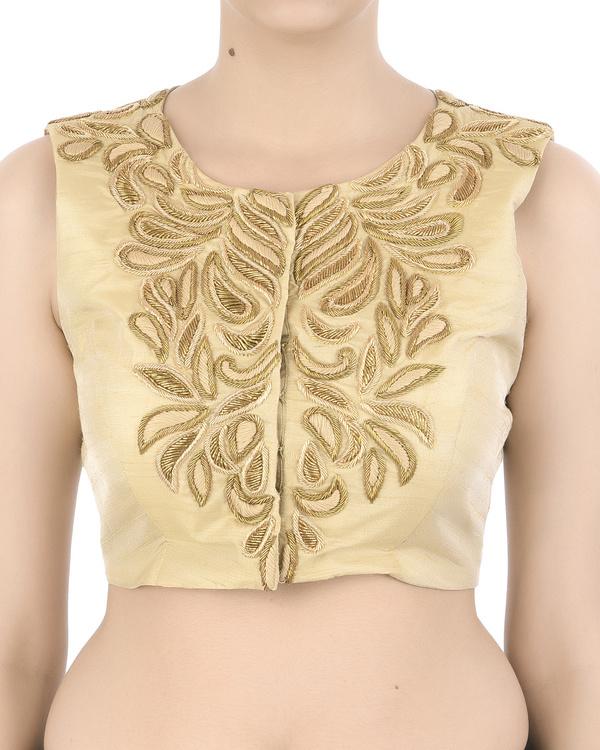 Golden zardozi embroidered blouse
