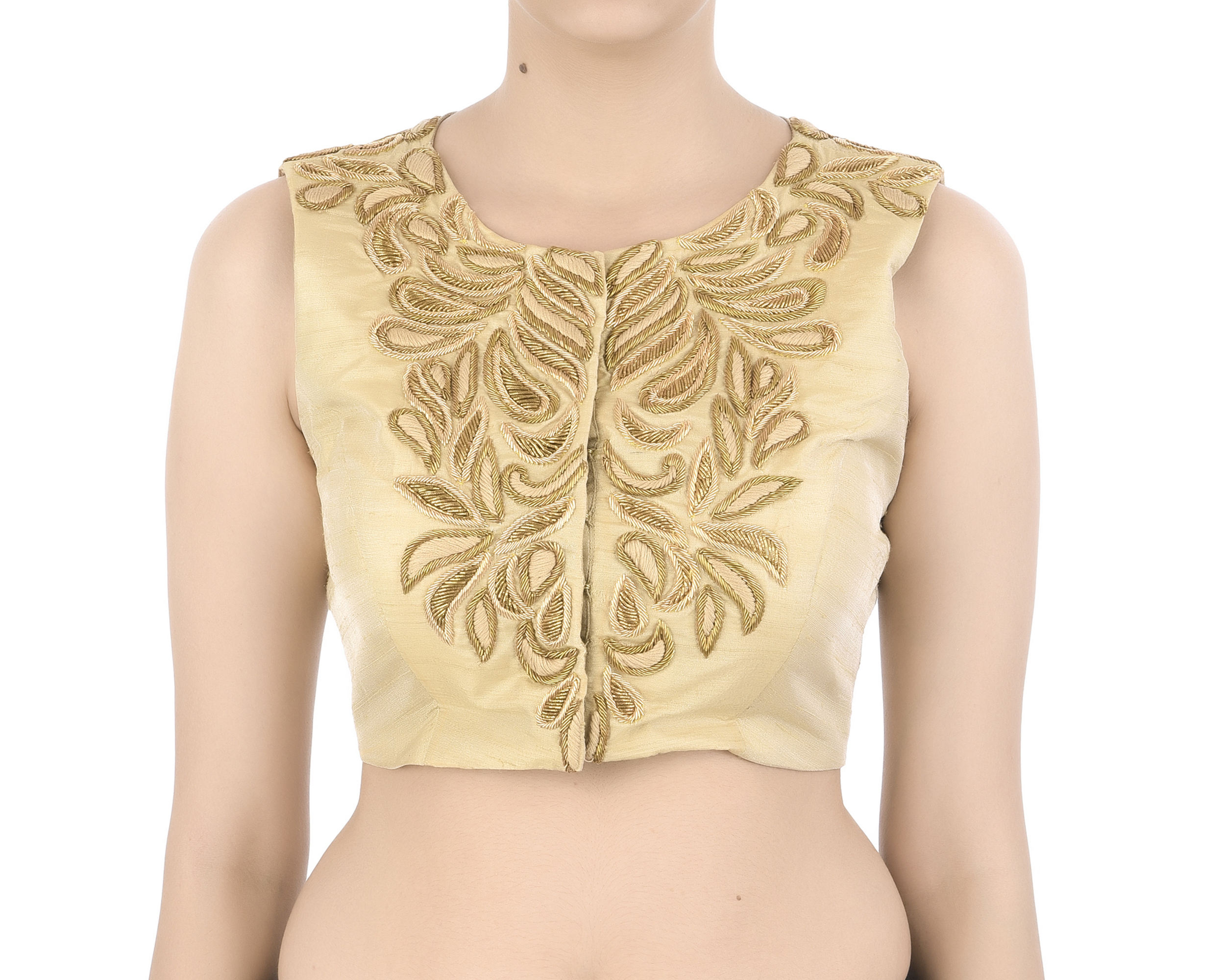Golden zardozi embroidered blouse