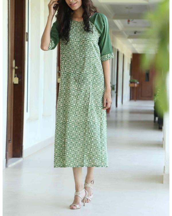Green blockprint tunic