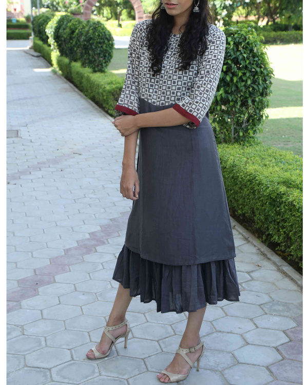 Deep Grey double layered dress