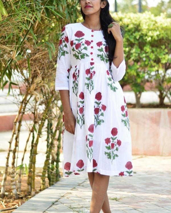 White rose midi