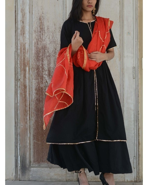 Black gharara set