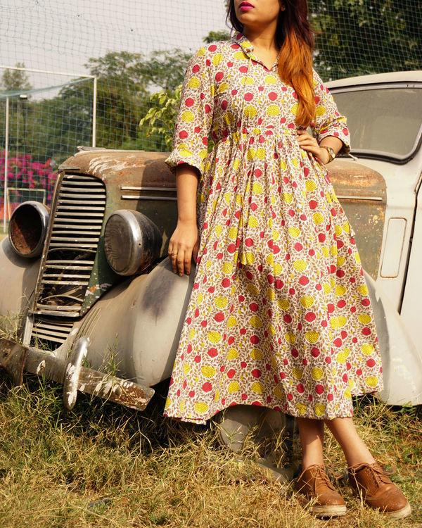 Magenta rose dress