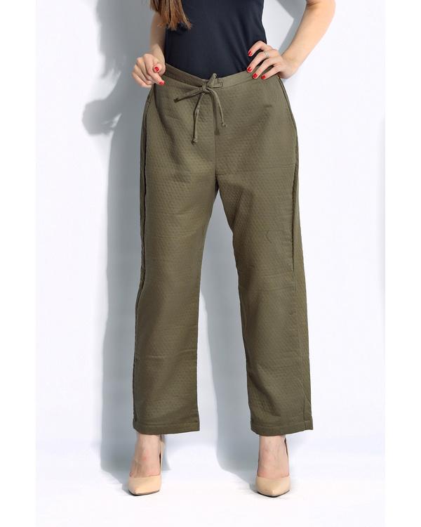 Olive solid pants