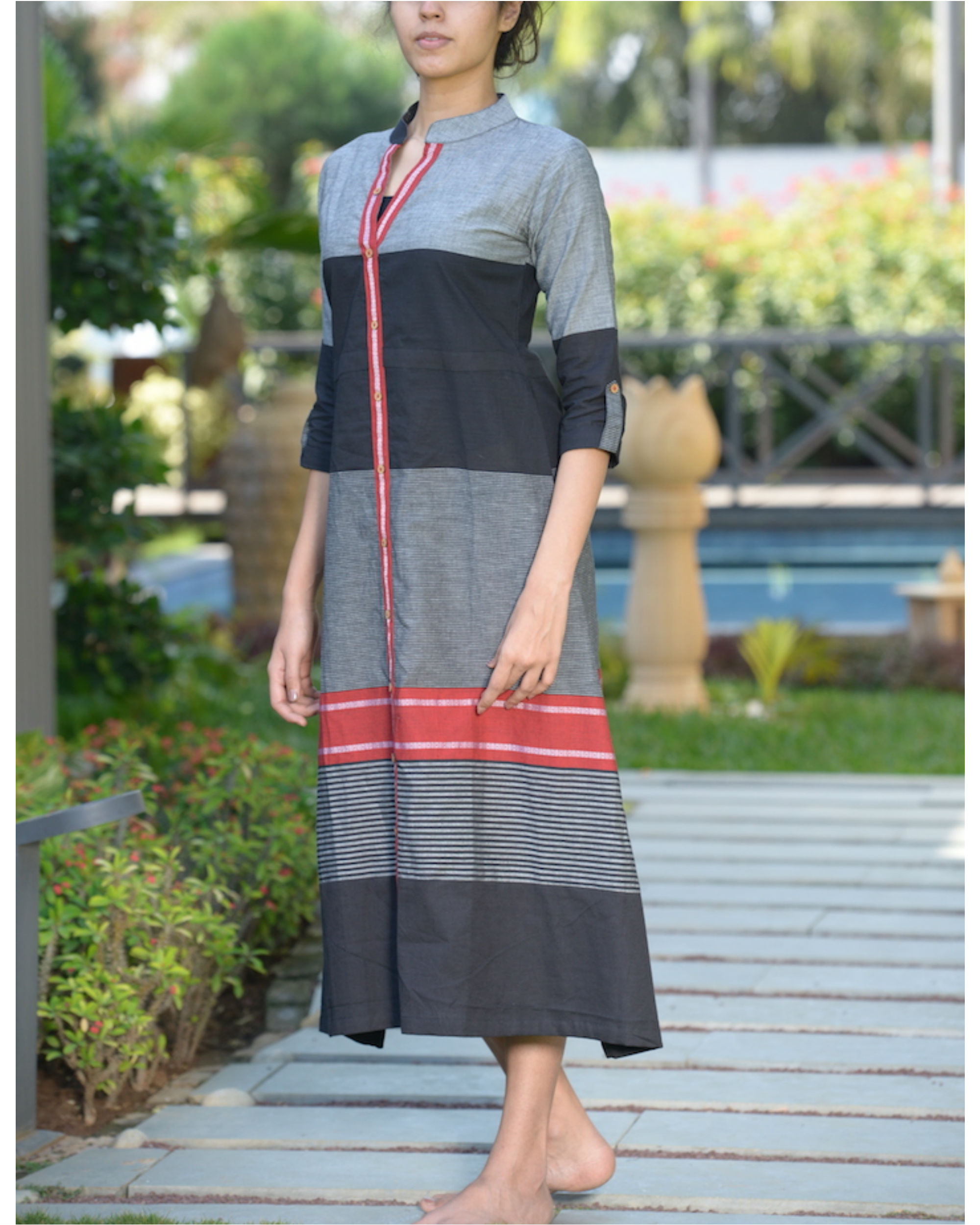Striped a line kurta