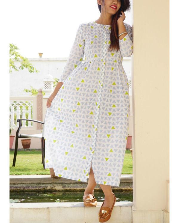 Geometric button down dress