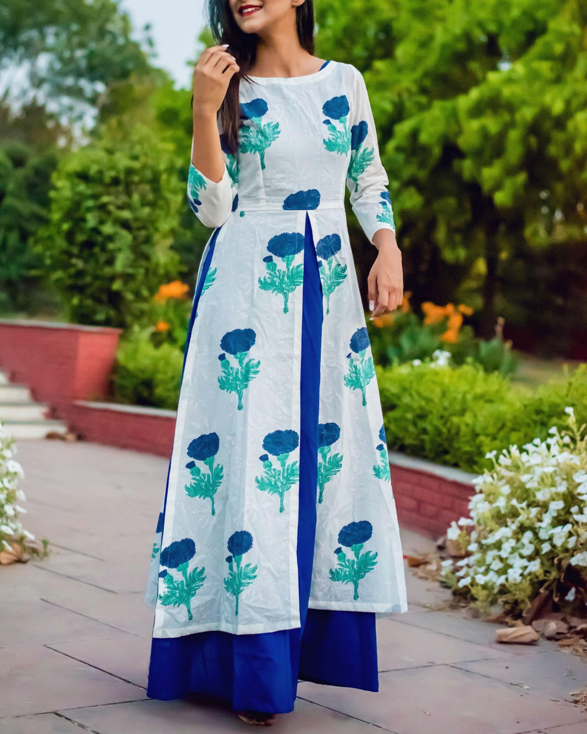 Layered blossom dress