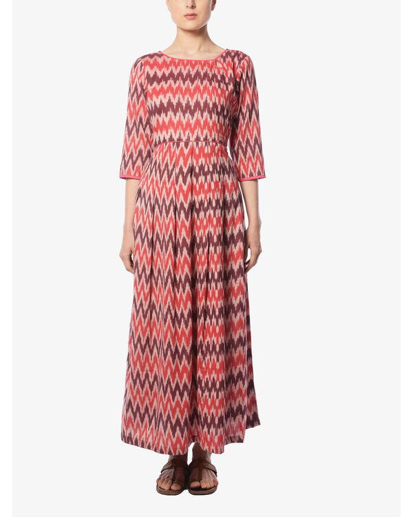 Plum and cherry ikat maxi