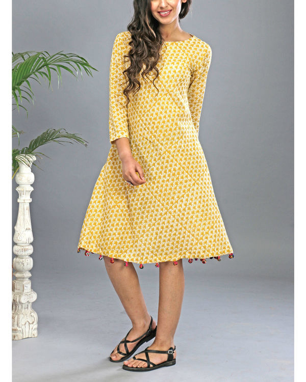 Yellow tasseled dress