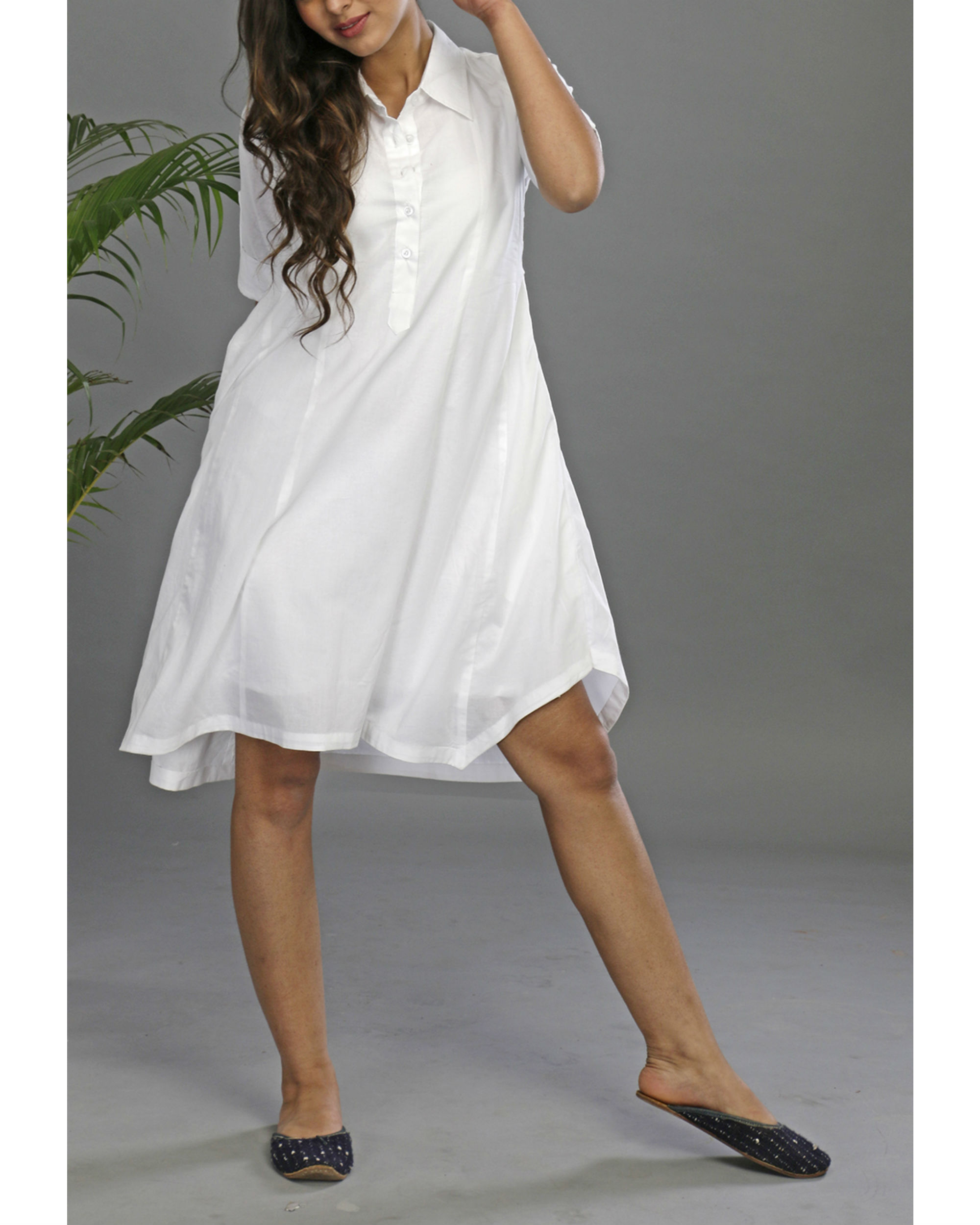 Serene asymmetrical dress