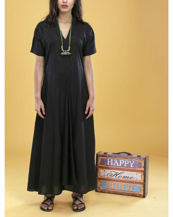Black asymmetrical gown