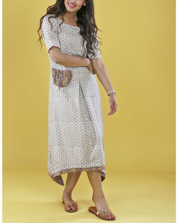 Grey patch pocket dress