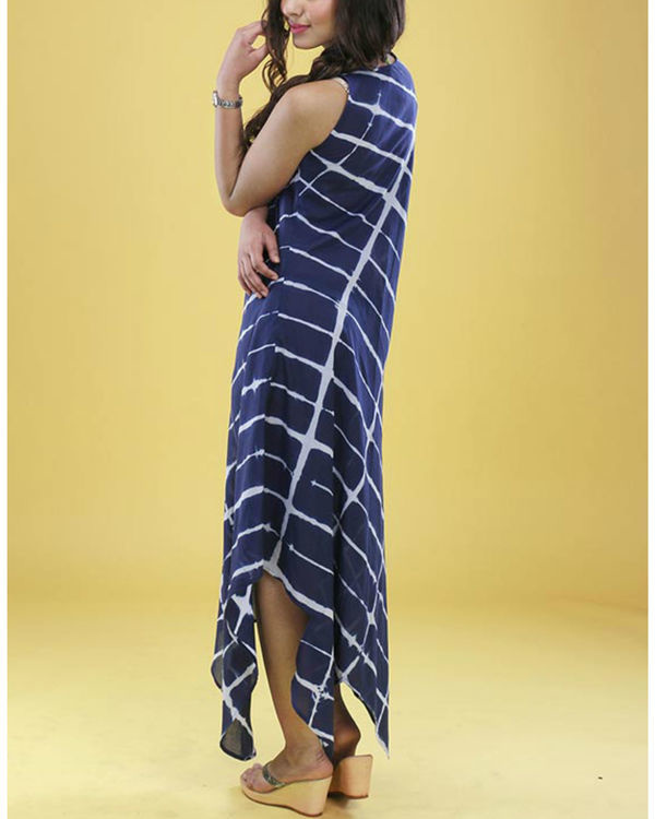 Navy tie dye gown