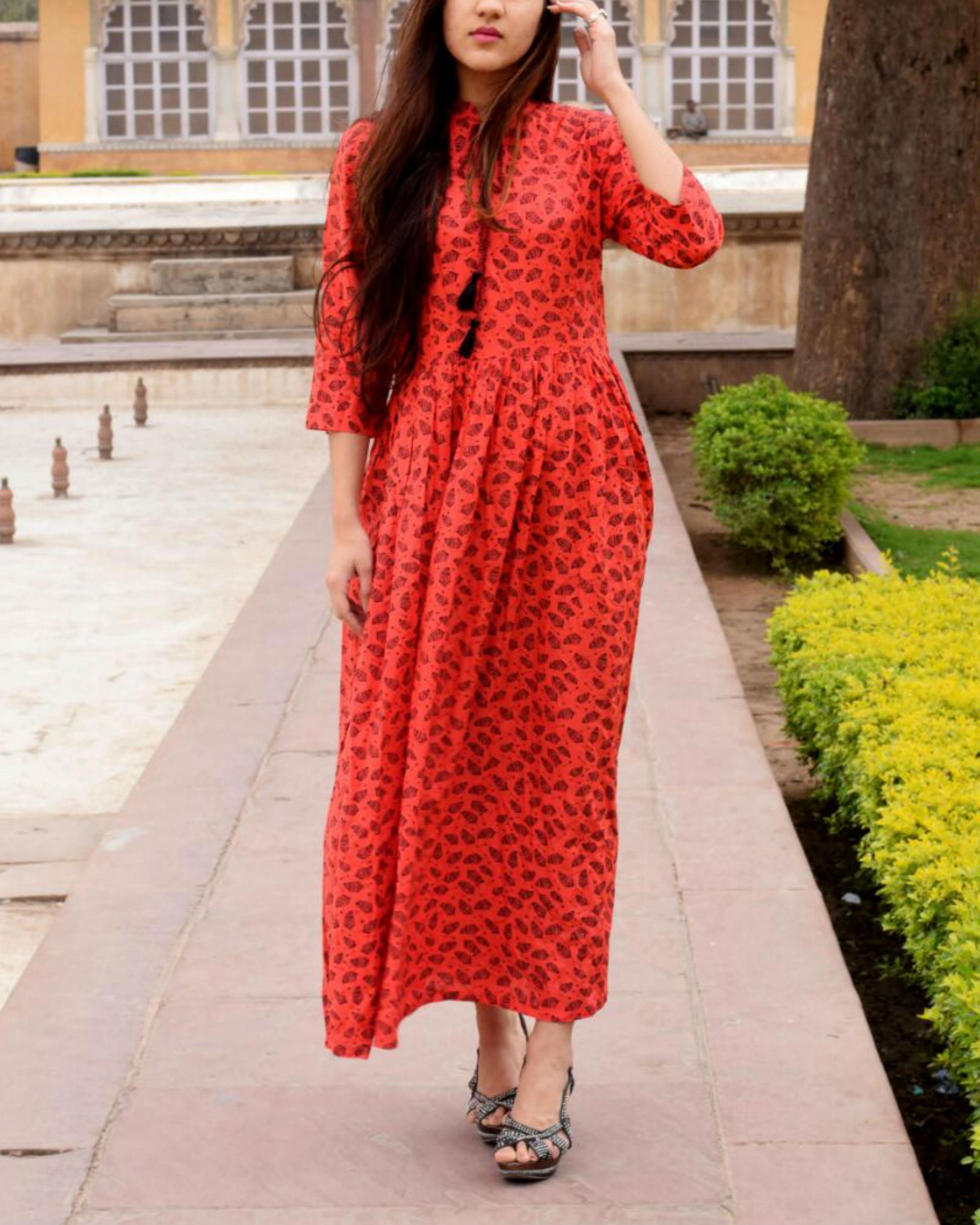 Rayon tasseled dress