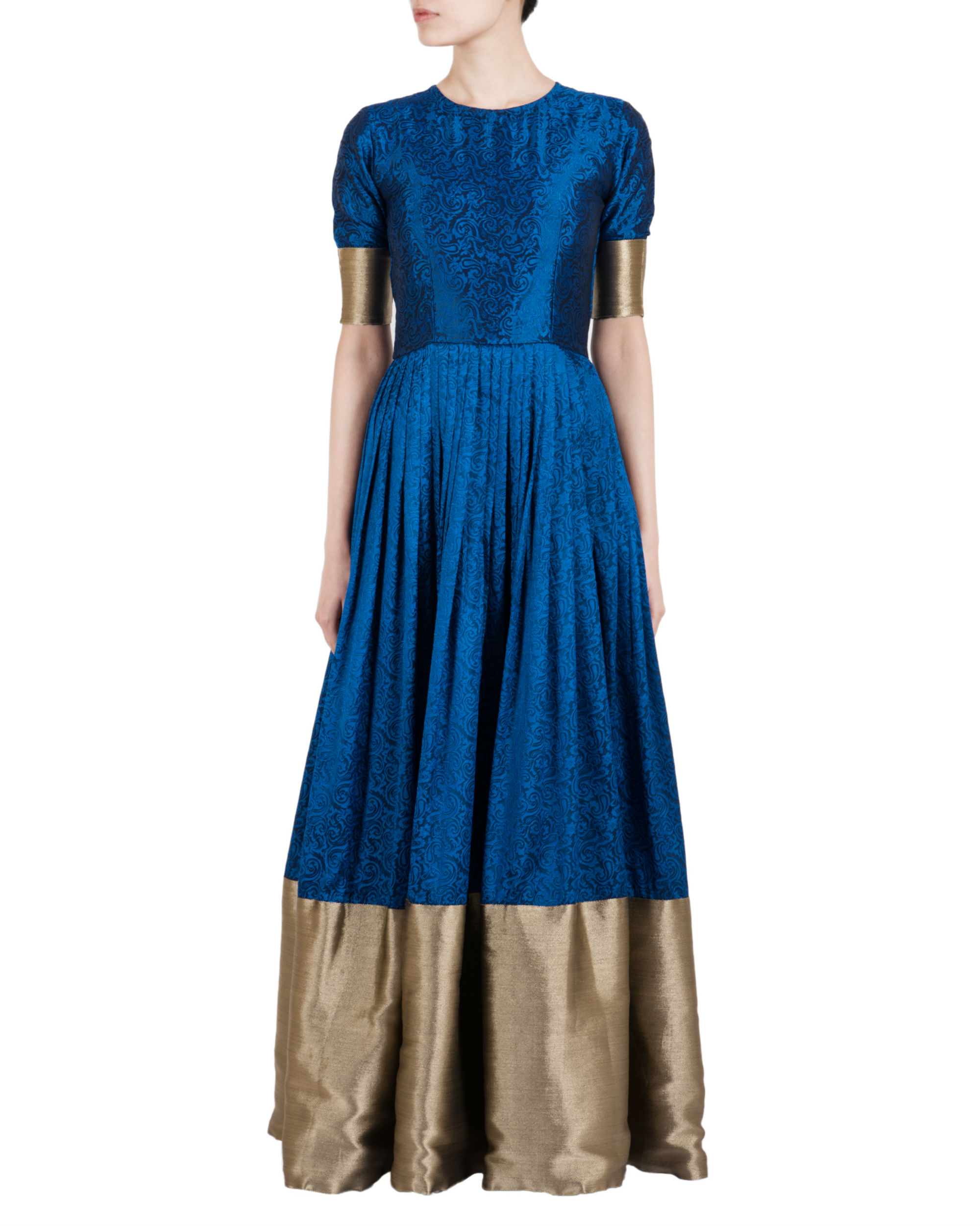 267aa1888 Blue and gold ballroom gown by trueBrowns | The Secret Label
