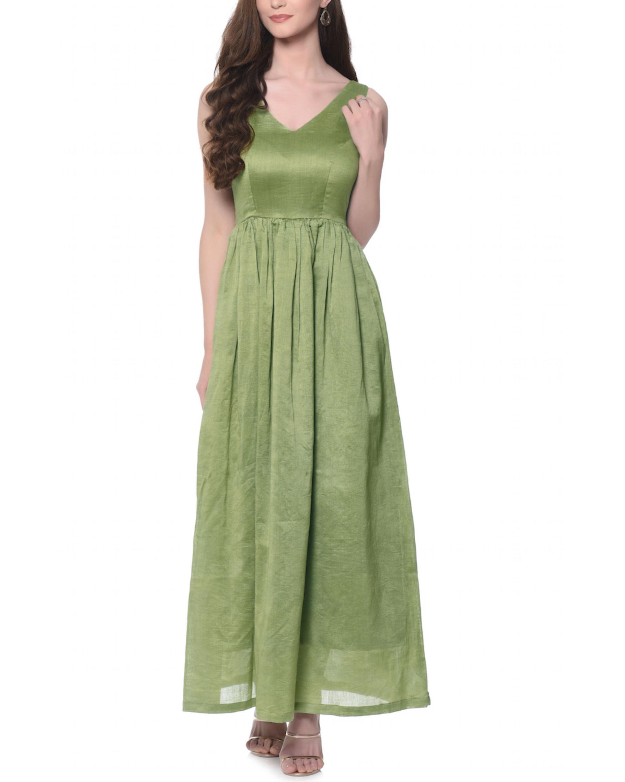 Olive fairytale dress