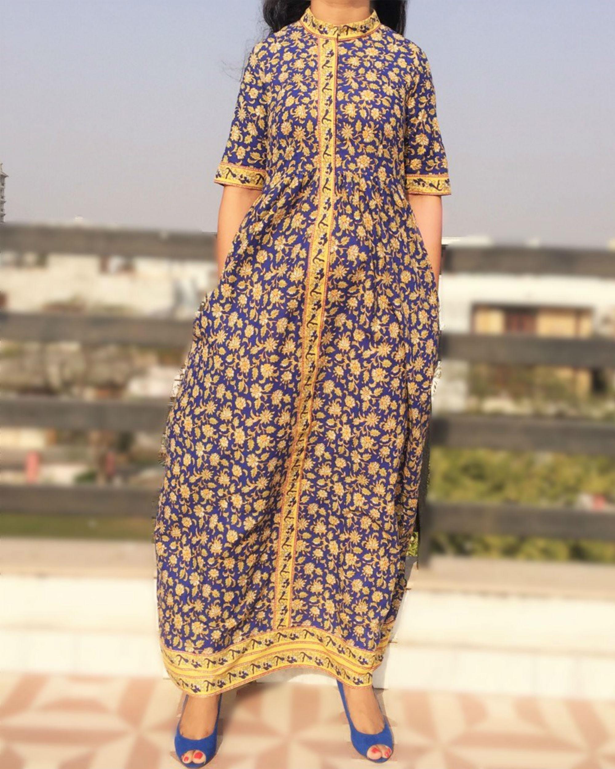 Ajrakh maxi dress