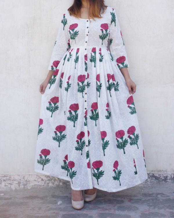 Poppy print cape