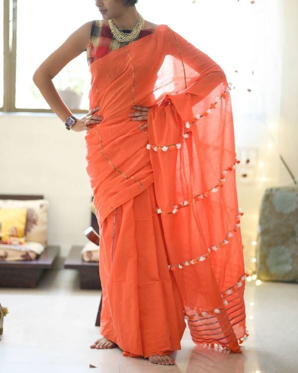 Shades of fire sari
