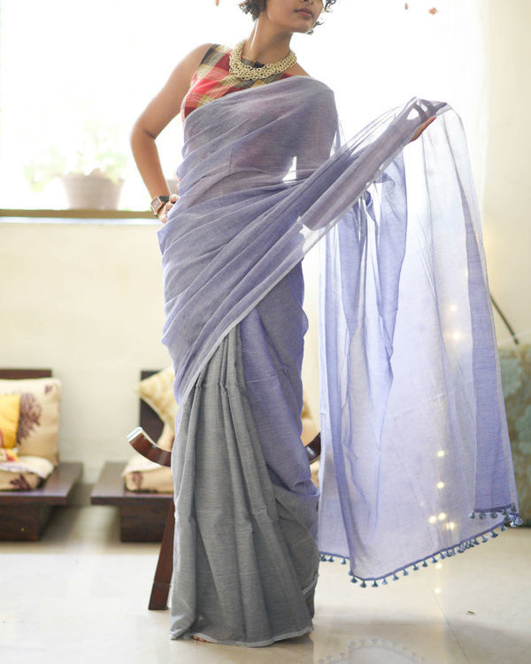 Midnight lightening sari