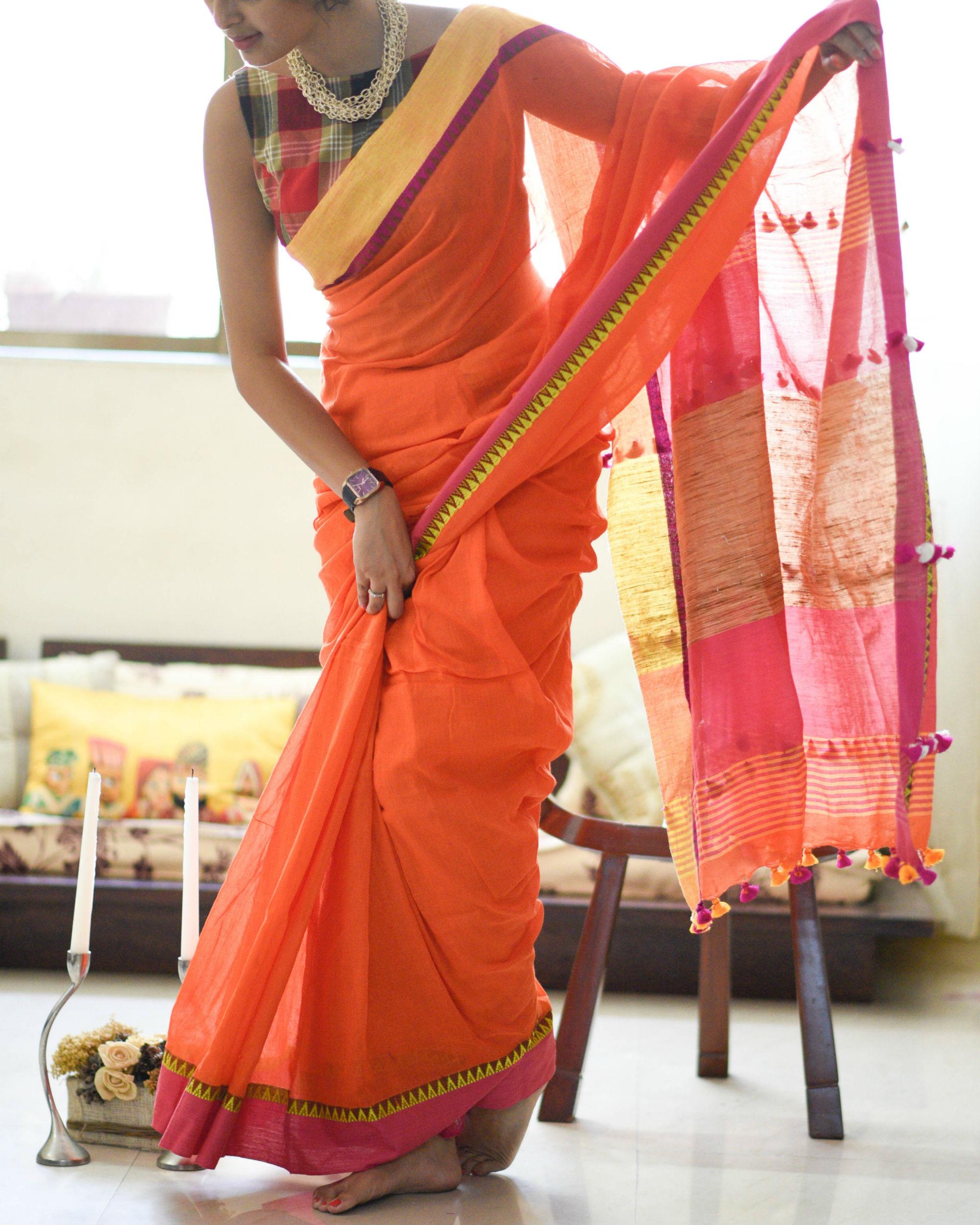 Temple border sari