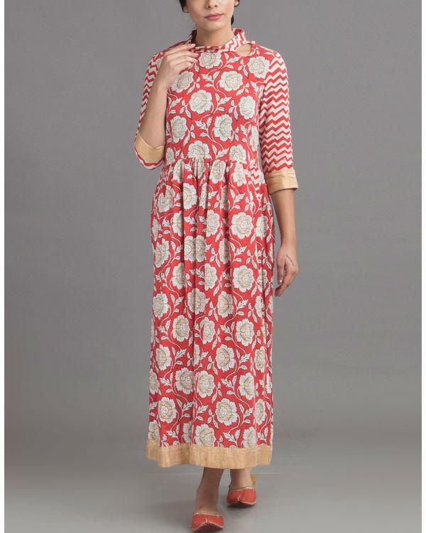 Blossom red dress