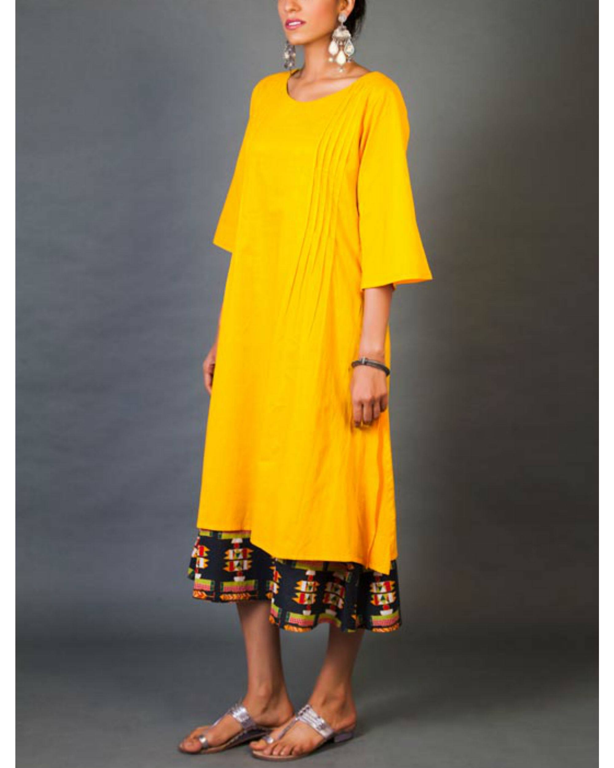 Amber faux layer dress