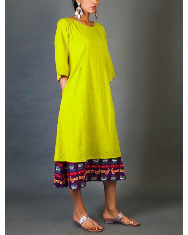 Citrus faux layered dress