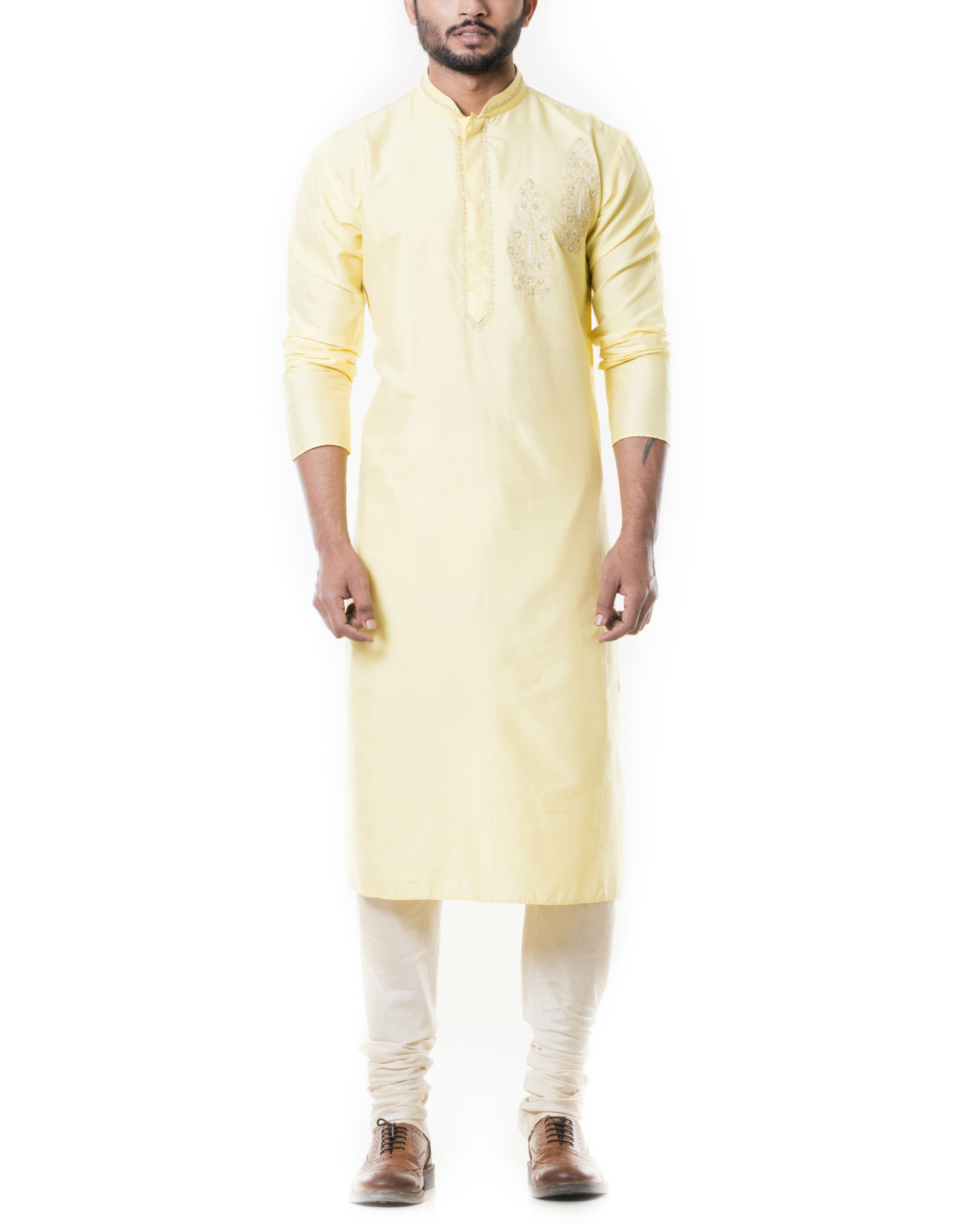 Lime yellow kurta set