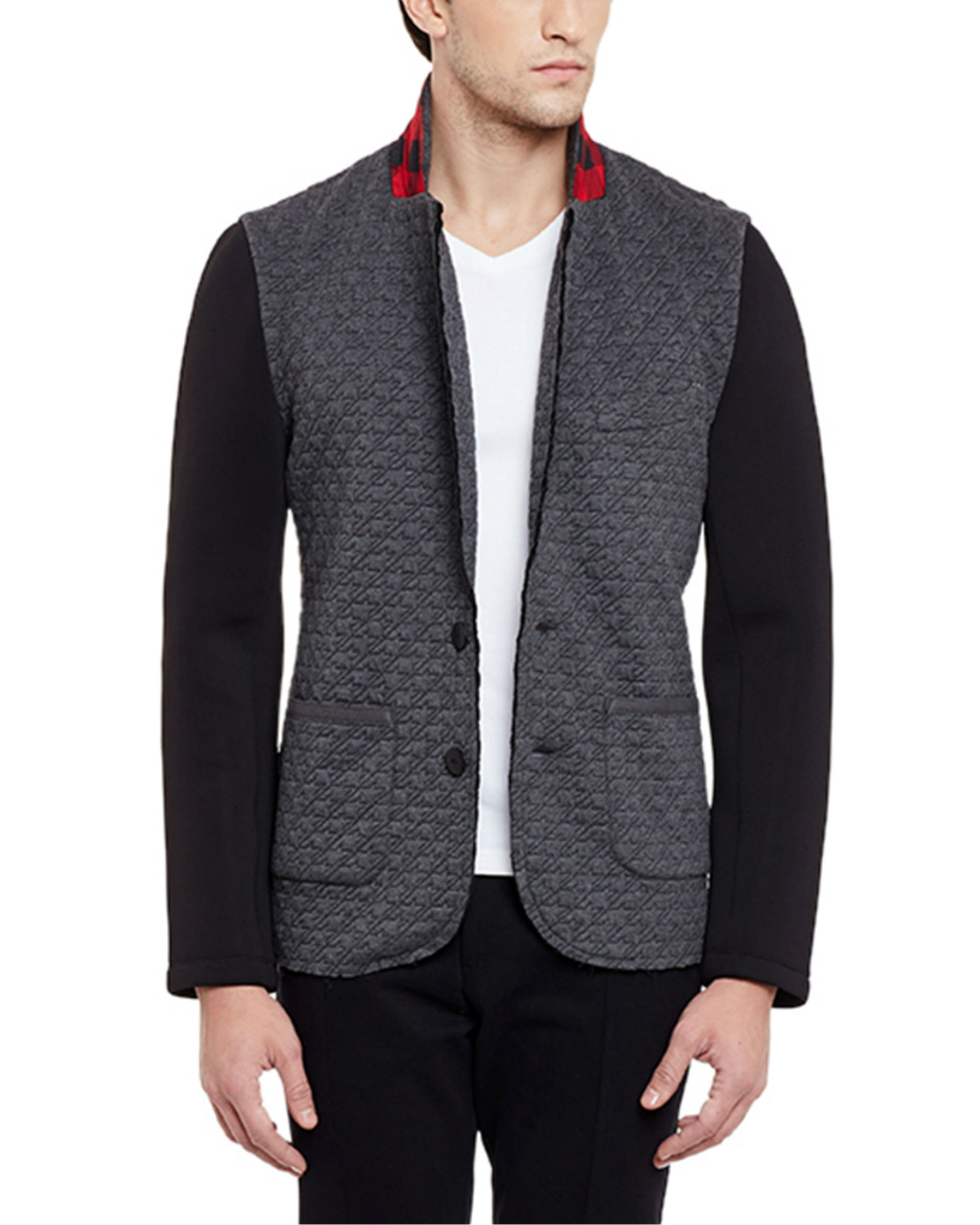 Grey unlined summer blazer