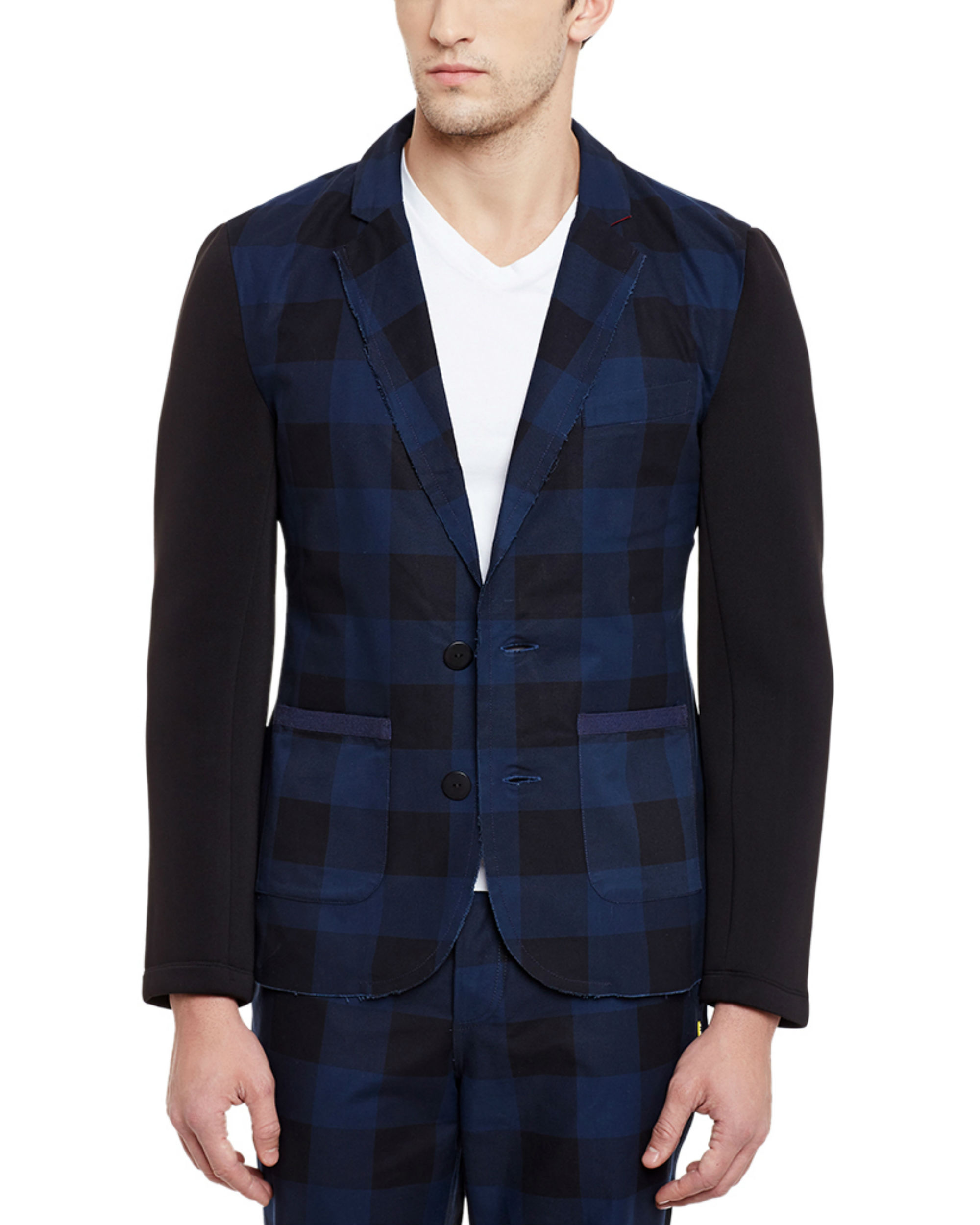 Checkered unlined summer blazer