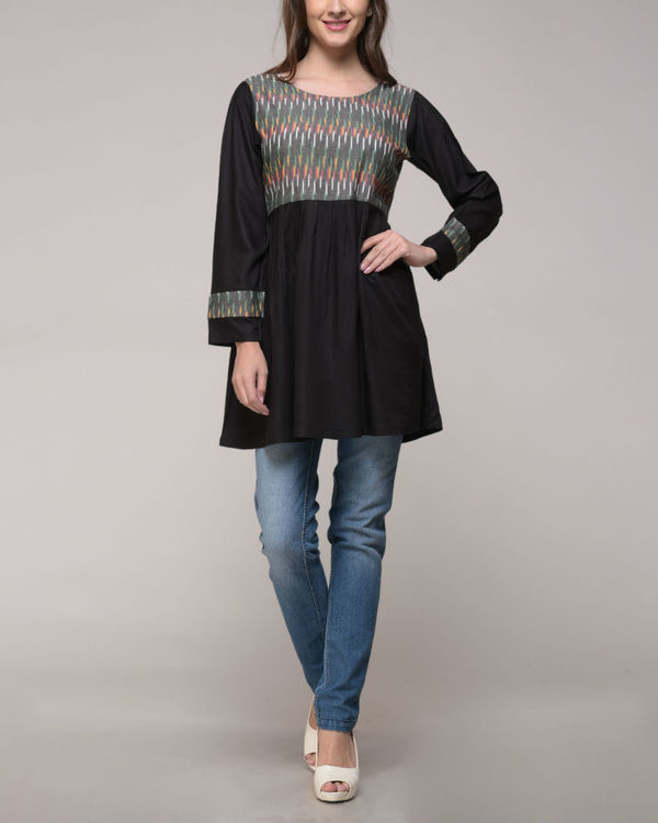 Ikat yoke gathered top