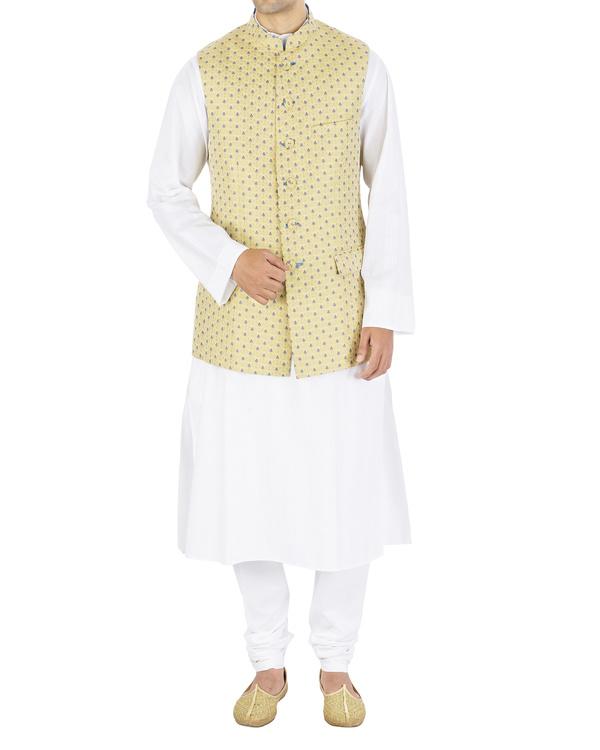 Silk brocade nehru jacket