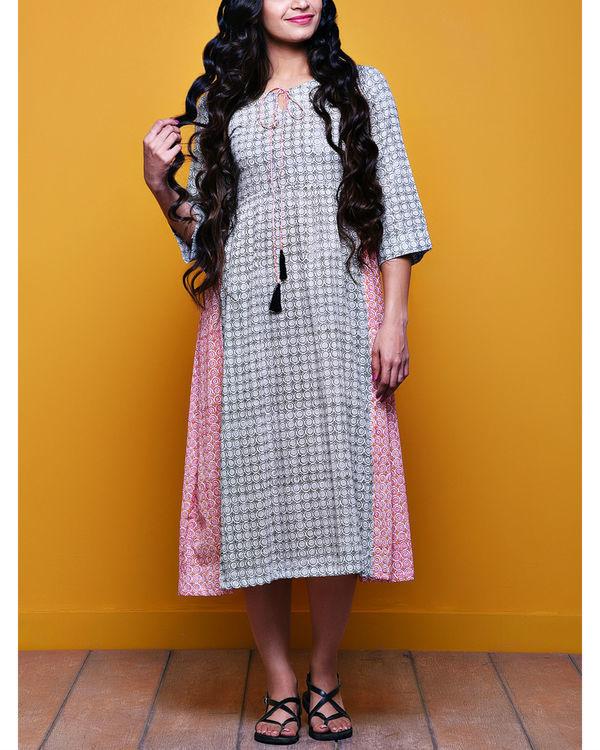 Checkered tasseled dress
