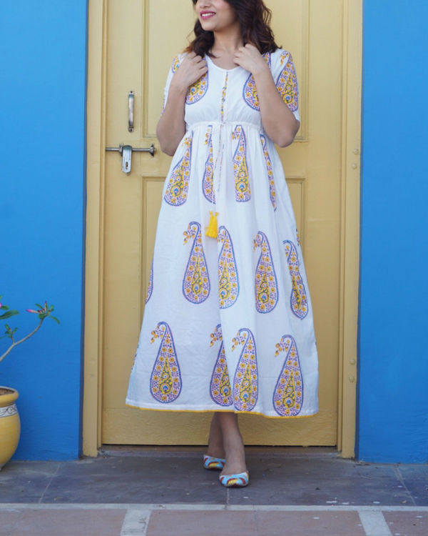 Yellow paisley maxi