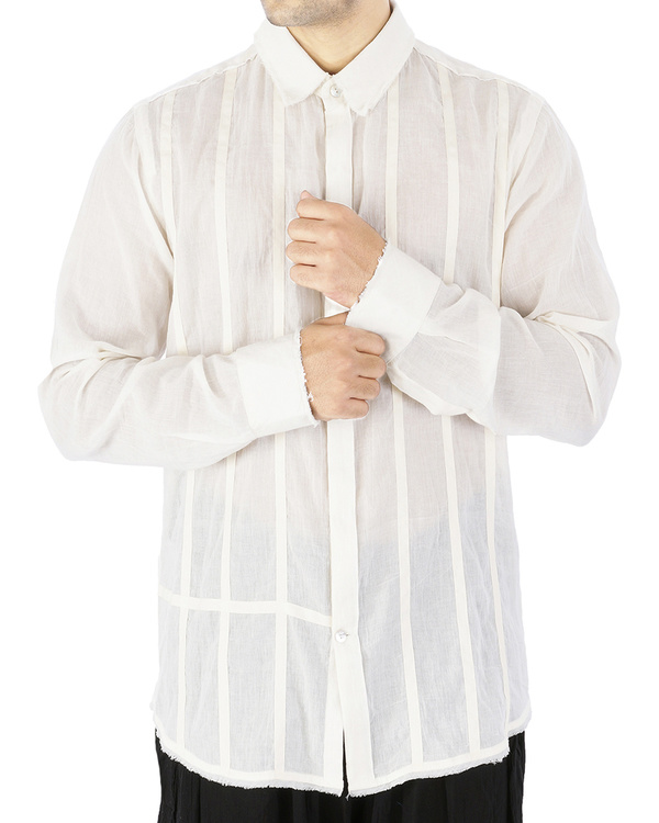 Off white voile shirt