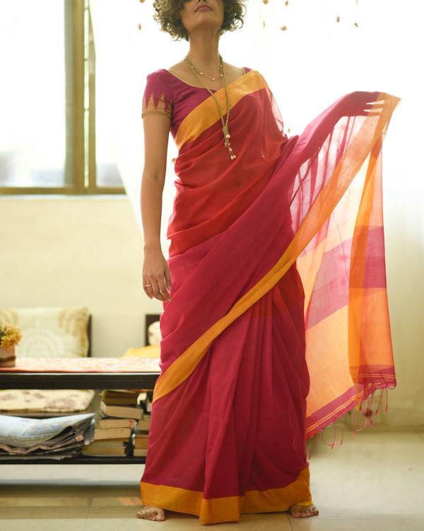 Sunshine and rose sari