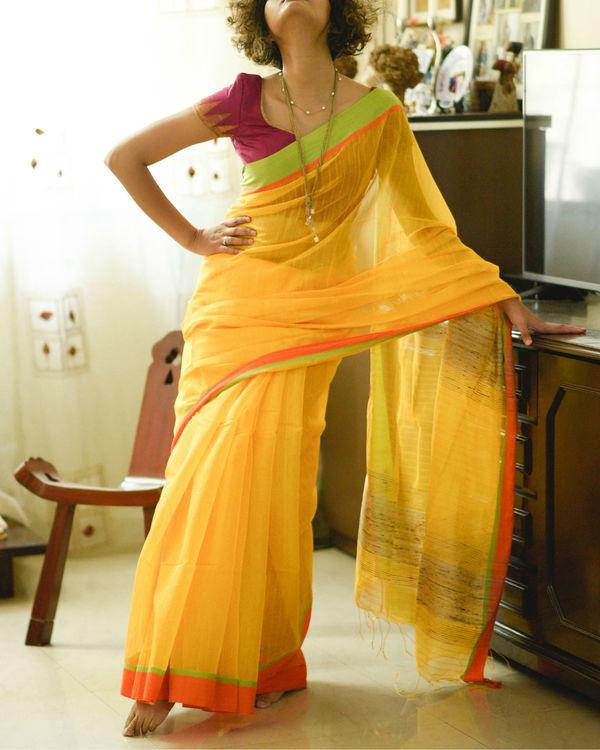 Mango and orange sari