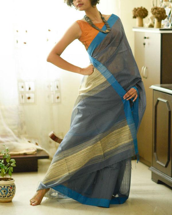 Shades of sky sari
