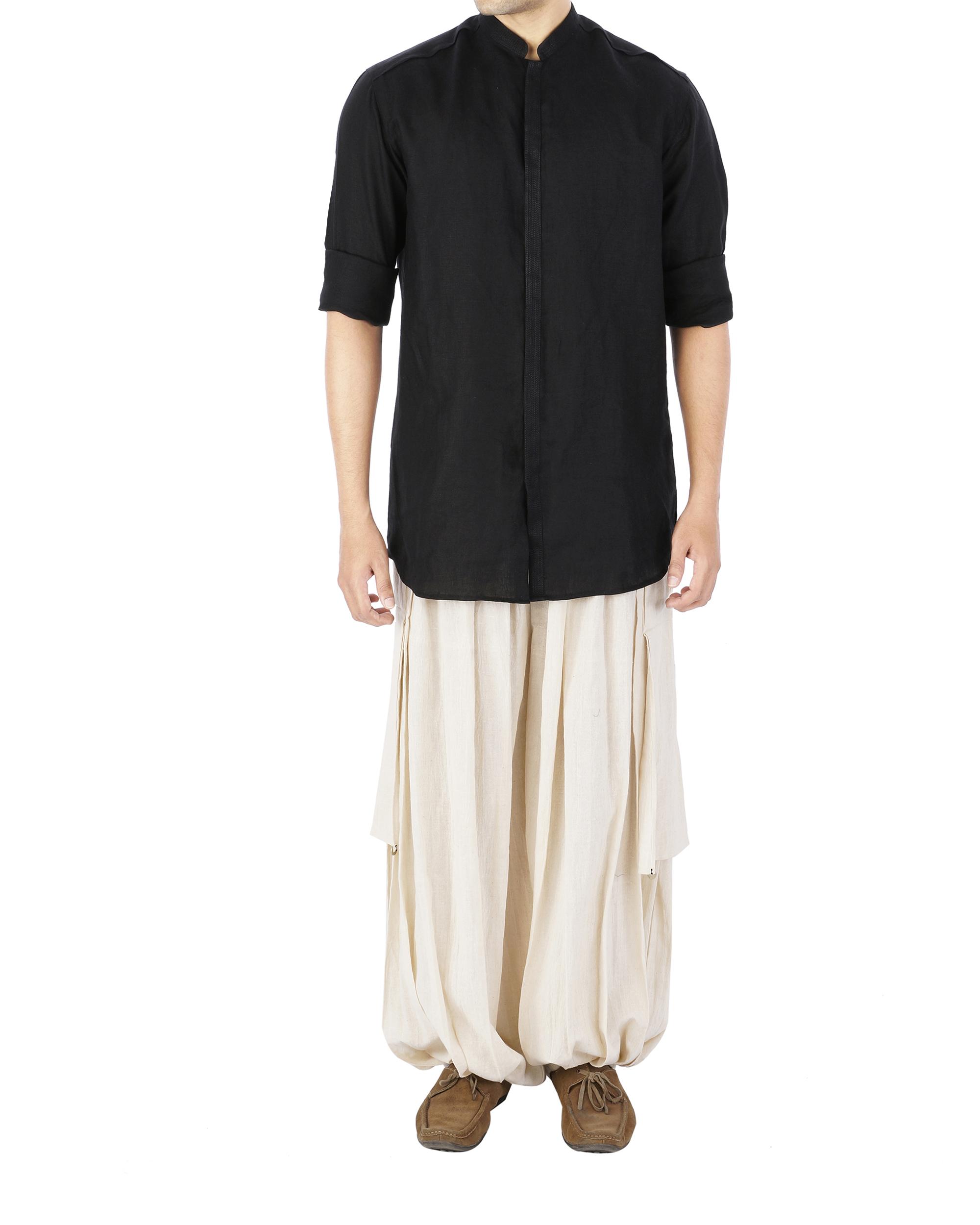 Linen kurta shirt
