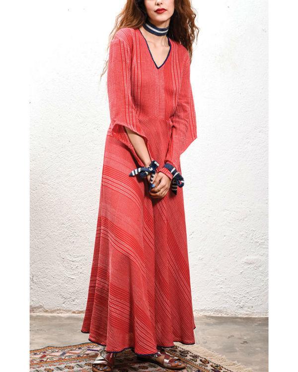 Tomato maxi dress