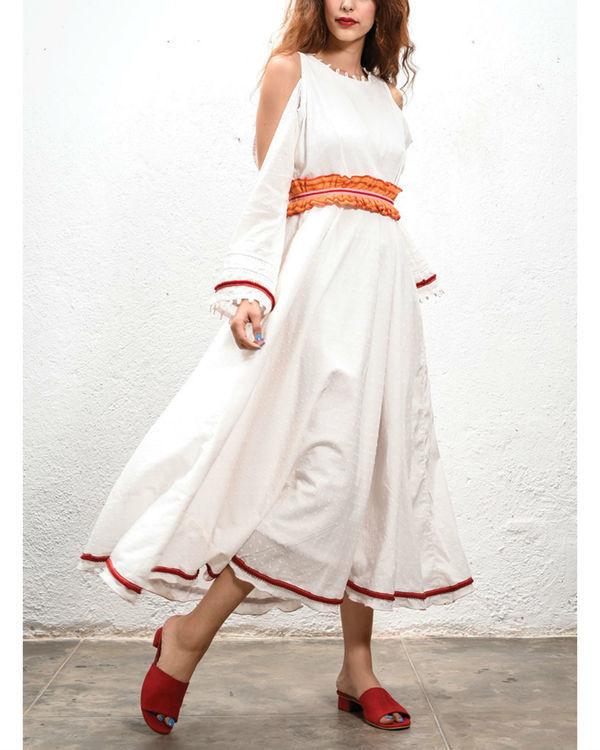 Ivory cut out dress
