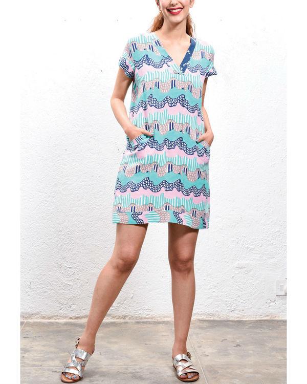 Wave shift dress