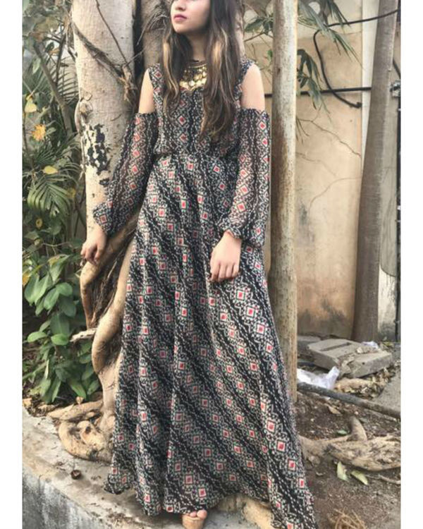 Bohemian drop shoulder dress