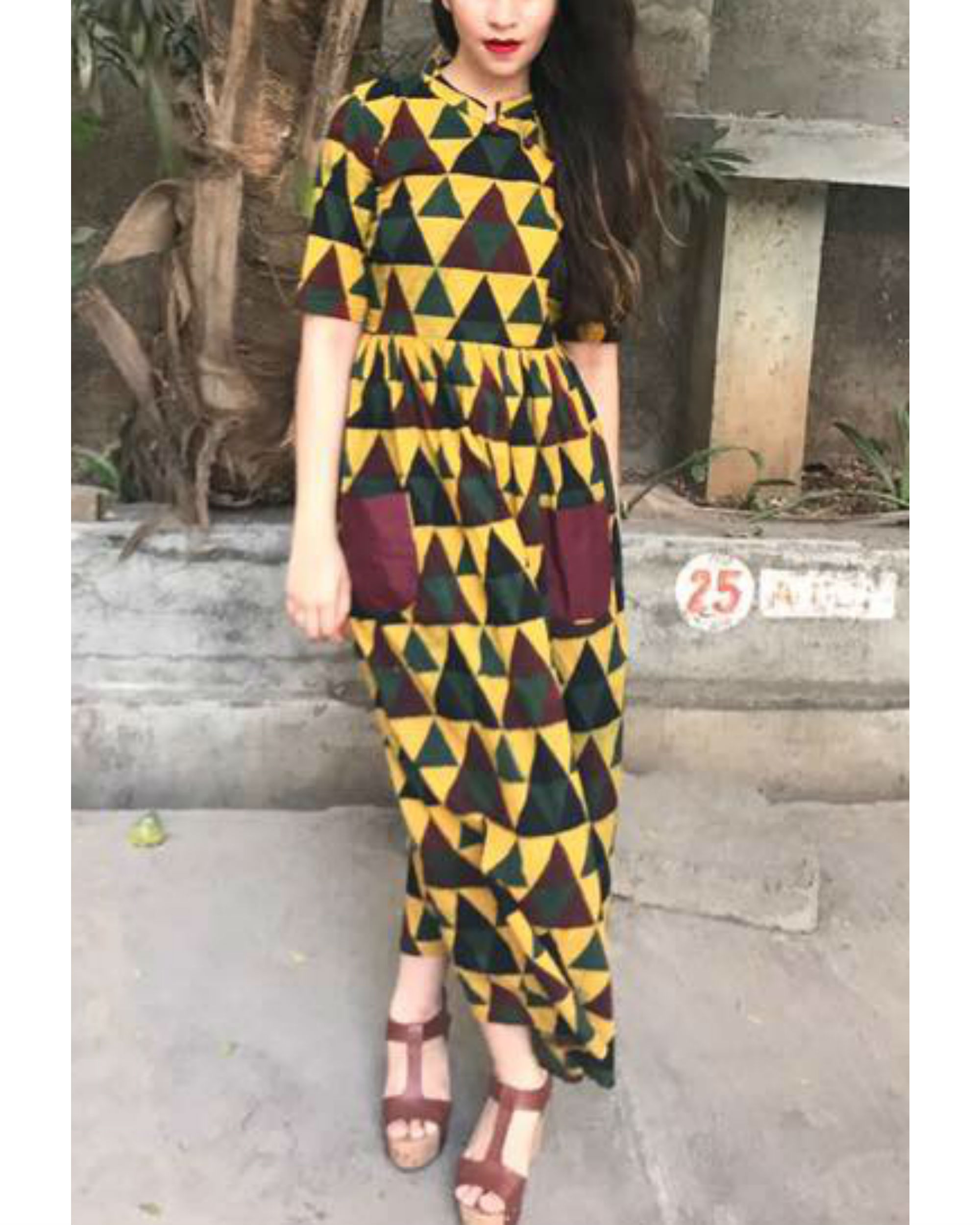 Pecan pocket dress