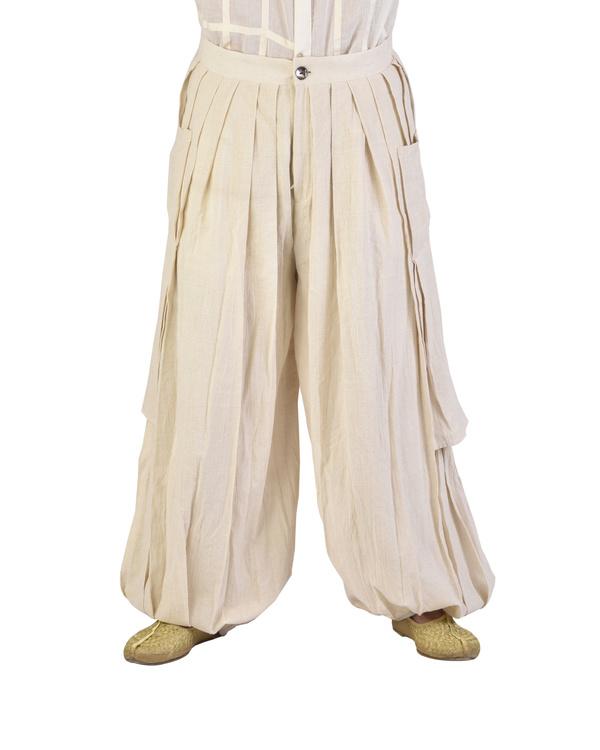 Off white dhoti pants