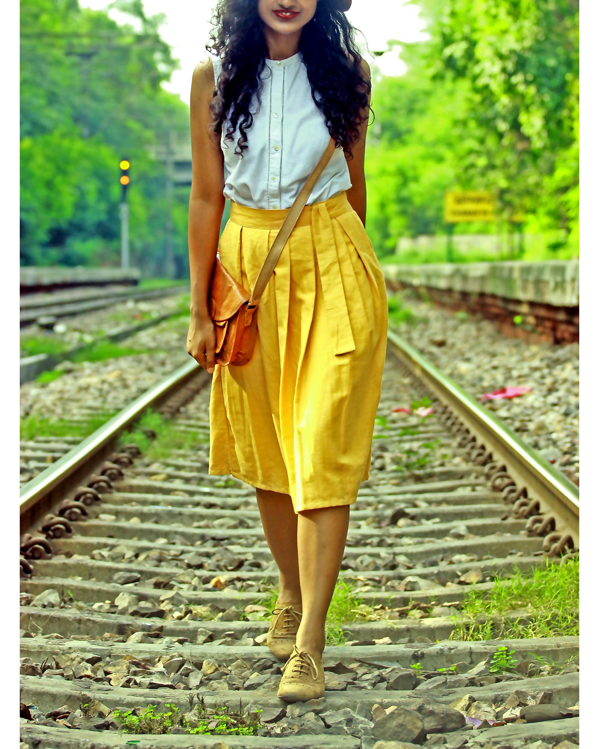 Khadi mid calf skirt