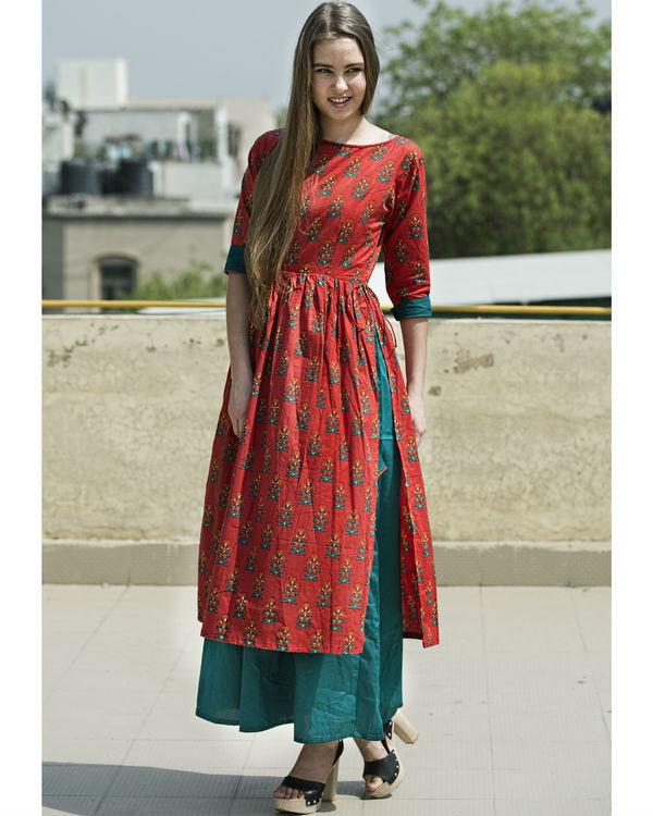 Phoolbuti layered dress