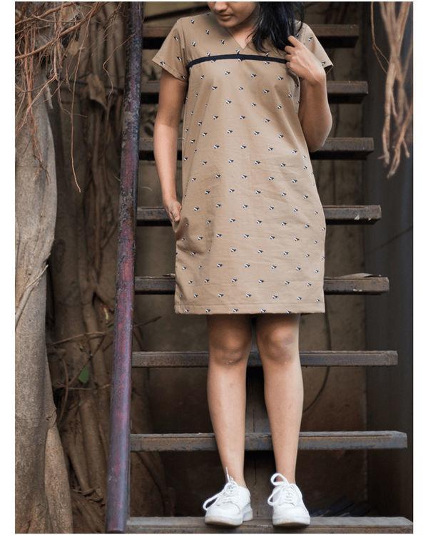 Khaki shift dress