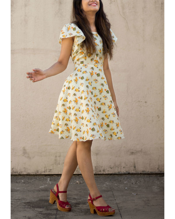 Yellow umbrella dress